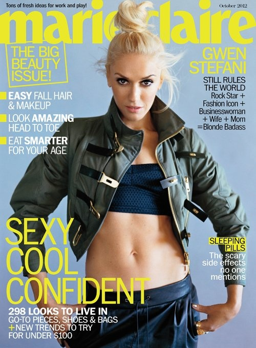 Really like Gwen Stefani's outfit, here on Marie Claire's cover! :D
