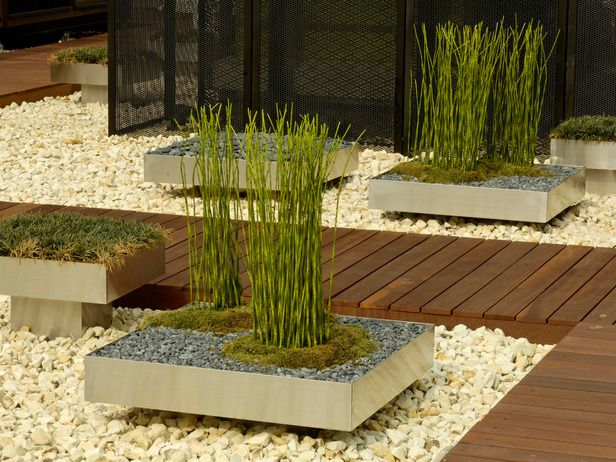 Wooden Pathway Intersects Modern Garden Setting This Would