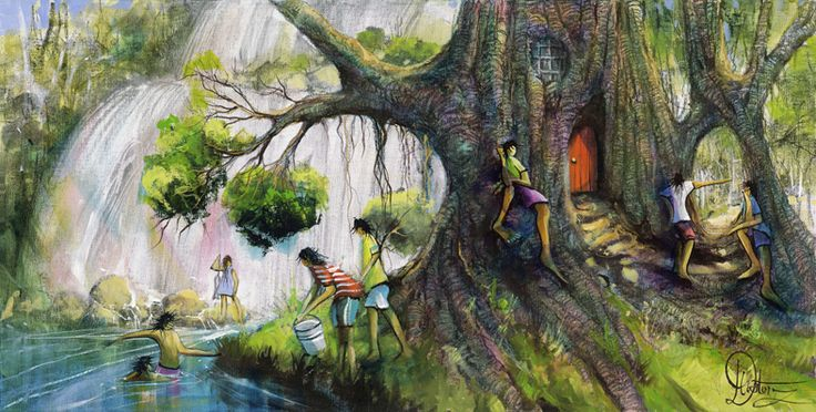 Tea Time - Art by Donald James Waters at Landsborough Galleries, print available. Donald is a man who is passionate about his art. He sees it as an adventure that must be experienced not only by the artist -but also by the viewer.