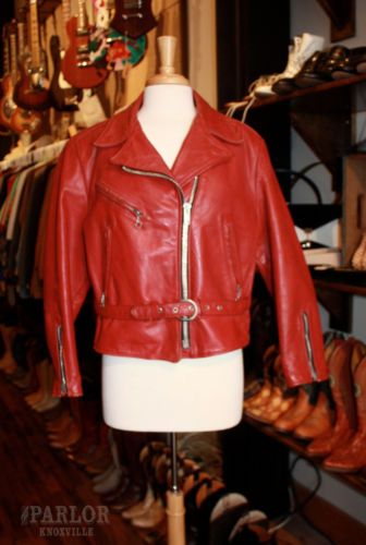 Vintage Schott Perfecto Ladies' Leather Jacket, size L, available at our eBay store! $250