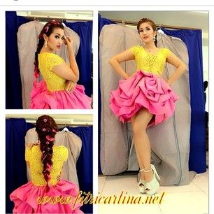 Fitri karlina wearing dress by hengky kawilarang