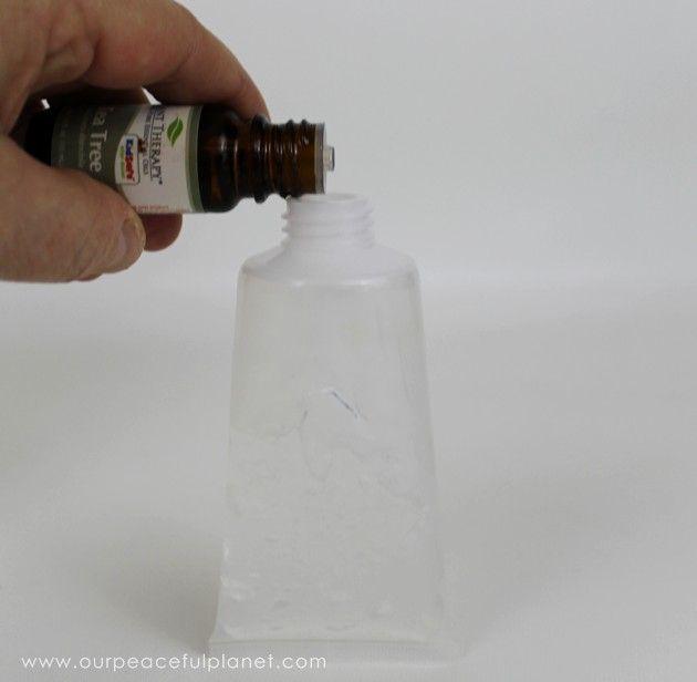 Natural Diy Hand Sanitizer 3 Ingredients No Alcohol Hand
