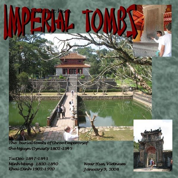 Inperial Tombs, Hue - Scrapbook.com