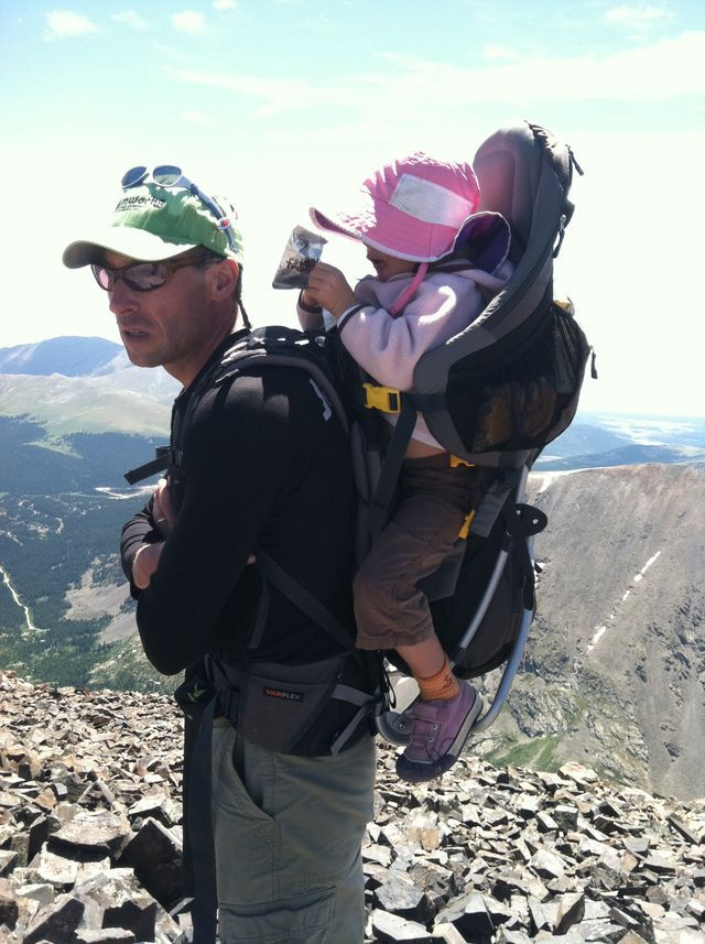 Hiking baby carriers- Adam wants one of these