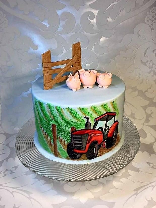 Tractor in vineyard - for boy by Frufi