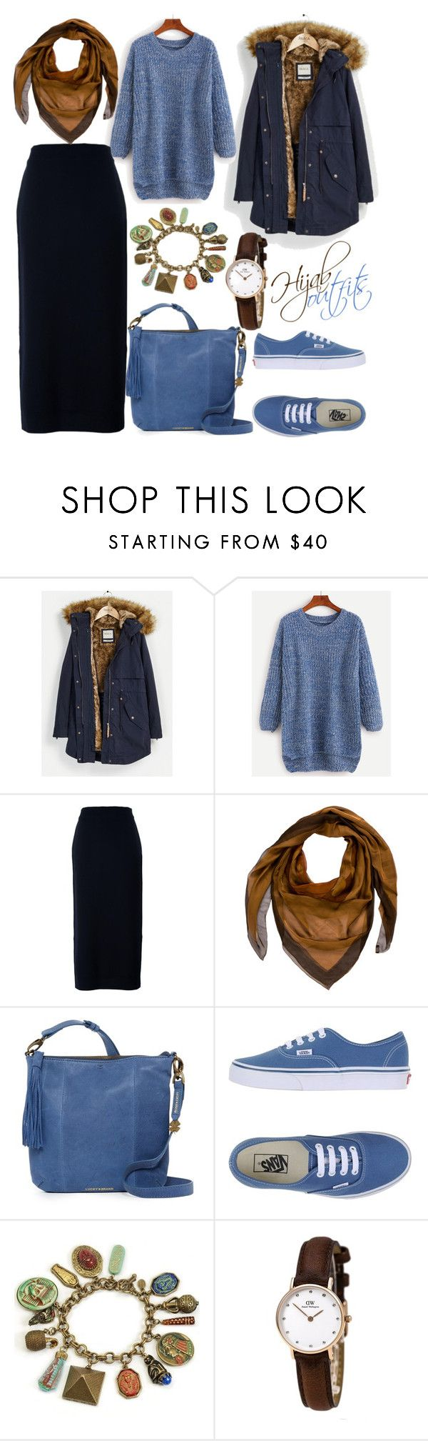 """#Hijab_outfits #Casual"" by mennah-ibrahim ❤ liked on Polyvore featuring Parka London, Enföld, Hermès, Lucky Brand, Vans and Sweet Romance"