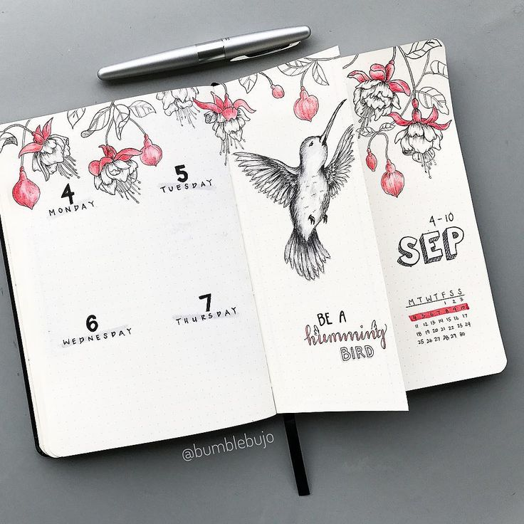 """1,434 Likes, 127 Comments - K  (@bumblebujo) on Instagram: """"My first Sept weekly spread all done! Phew . I decided to try a Dutch door this time. I've got my…"""""""
