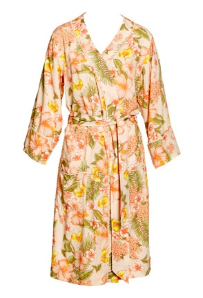 Image for Hibiscus Kimono Gown from Peter Alexander