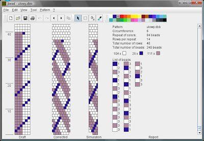 6 around (see correlating necklace) Koraliki tudzież: Wzory sznurów szydełkowo-koralikowych