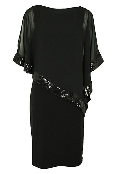 LBD | Little Black Dress | Cape style by Joseph Ribkoff.