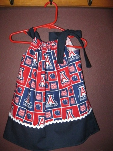 NOW on SALE 5.00 OFF U of A Pillowcase Dress Very few are available. | MadeAtNanas - Clothing on ArtFire