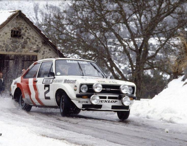 Montecarlo Rally 1979. World Champion Bjorn Waldegaard on his Ford Escort RS 1800.
