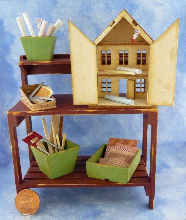 Dollhouse Miniature Tutorials | Dollhouse on Workbench by Kathryn Depew 50