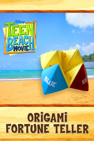 Disney's Teen Beach Movie Free Printables, Recipes and More origami fortune teller | SKGaleana