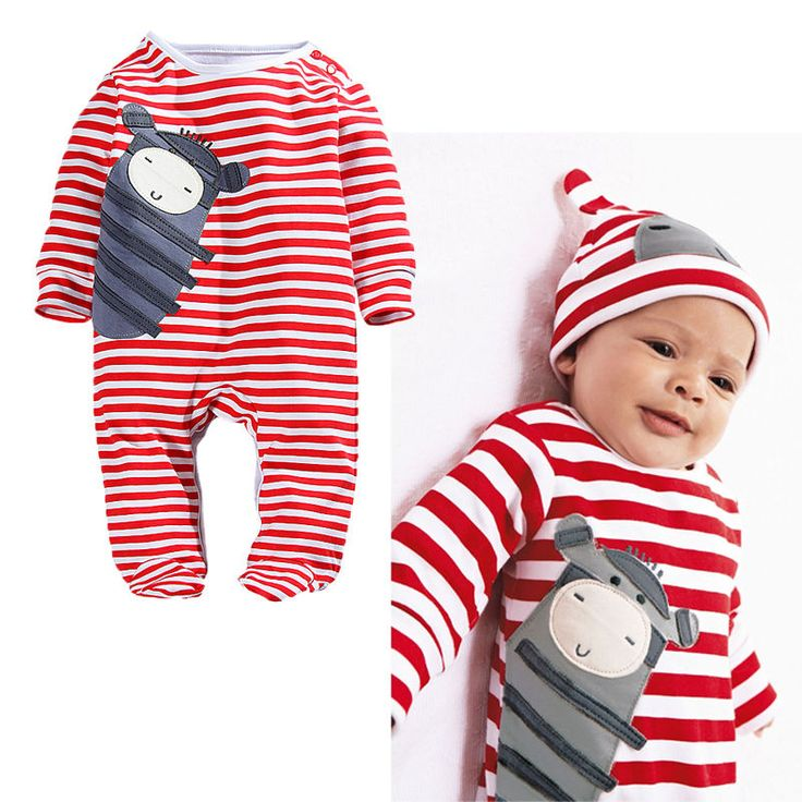 Toddler Baby Kids Boy Girl Cartoon Insect Striped Long Sleeve Rompers Outfits #Unbranded #Everyday