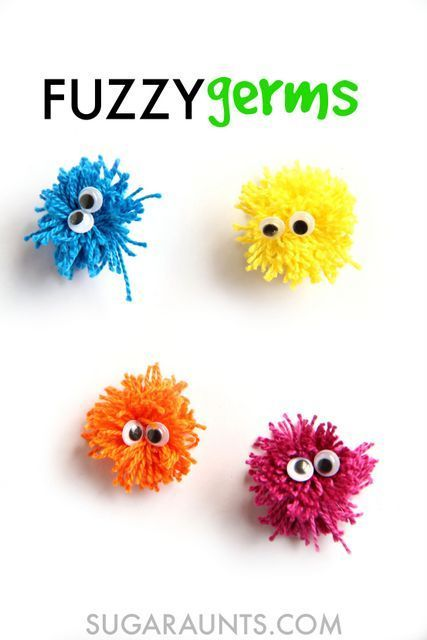 Germ craft based on a kids book, Germs by Ross Collins. This is great for teaching kids how germs are spread.