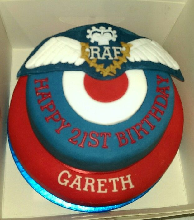 21st Birthday RAF wings cake