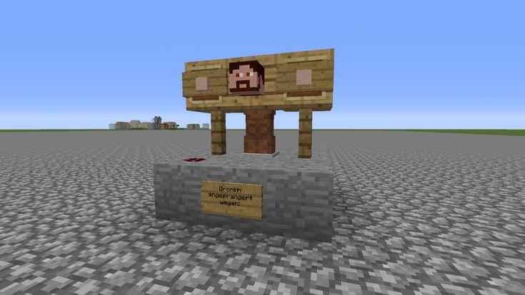 Minecraft Bauideen #1: Pranger: Ein Pranger mit dem selben sozialen Effekt wie schon im guten alten Mittelalter.