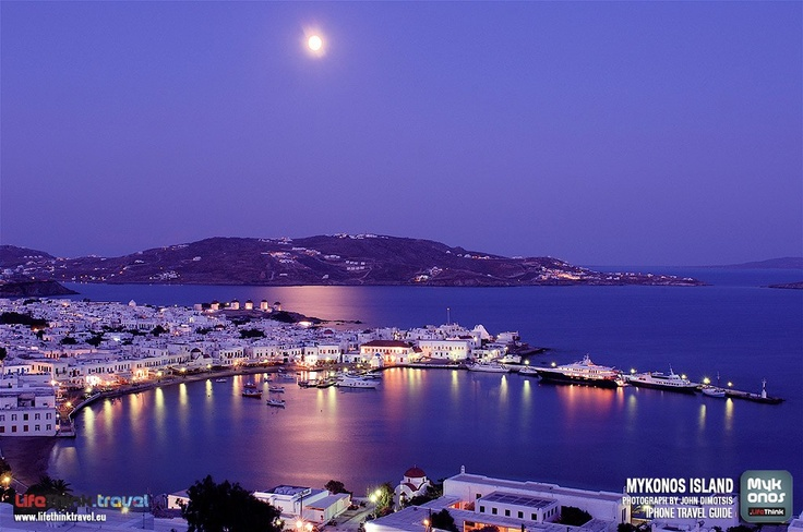 Mykonos by NIght Wallpaper