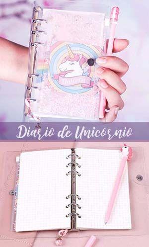 Agenda De Unicornio Diario Hecho A Mano Manos Dibujo Regalos Para Niños