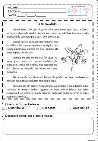 Espaço Professor: Caderno Pedagógico Juntos Contra o Aedes Aegypti com ATIVIDADES SOBRE Dengue, Zika Vírus e Chikungunya