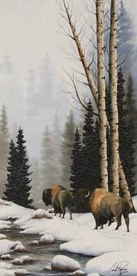 Carla Romero  Quiet Trail   Watercolor  H 30in x W 15in