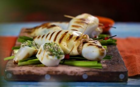 Quick and easy with flavours of Vietnam - Stuffed Squid Recipe by Reza Mahammad