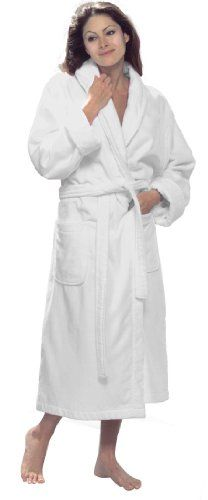 byLora Adult bathrobes, 100% Cotton Terry Robe, WHITE One size (L/XL) ** To view further for this article, visit the image link. #WomensLingerie