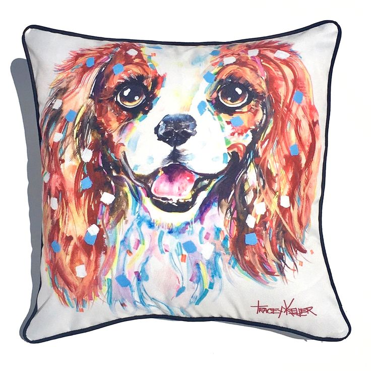 King Charles Indoor/Outdoor Cushion Cover - Tracey Keller