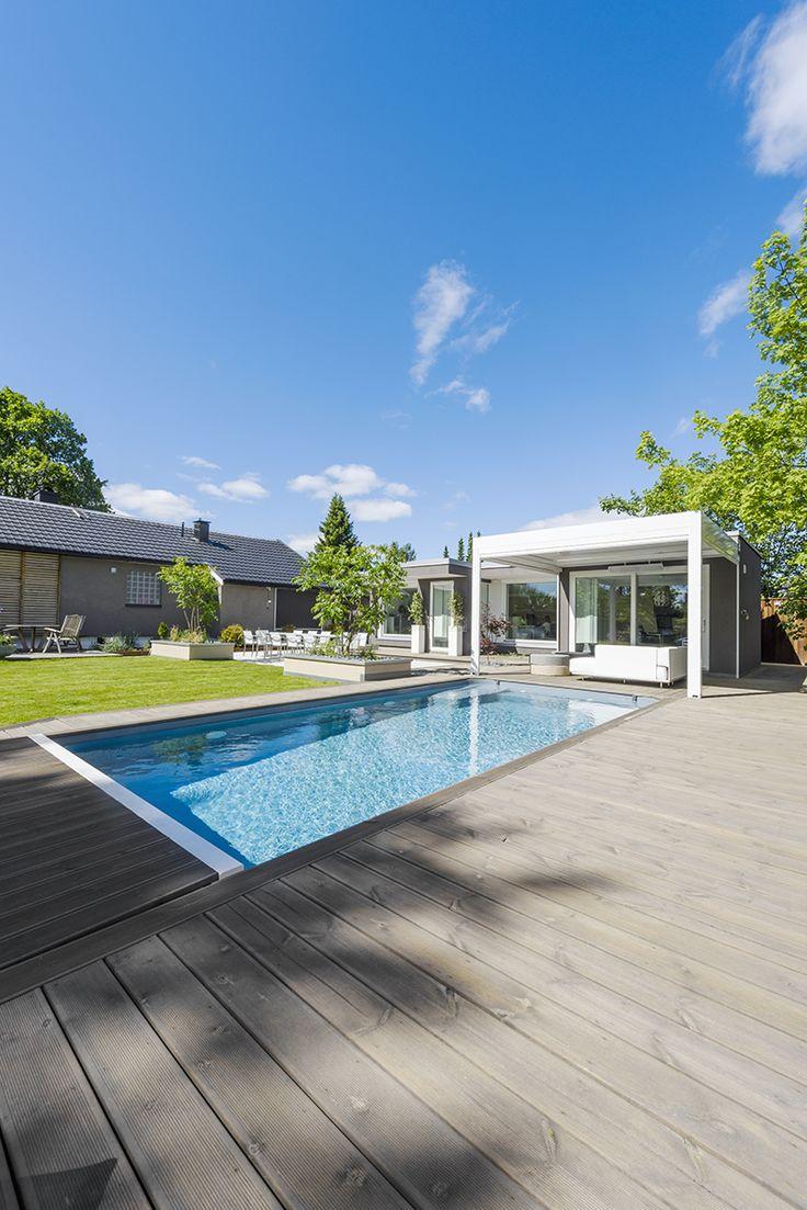 Darren Saines hagedesign med grå terrasse i MøreRoyal®