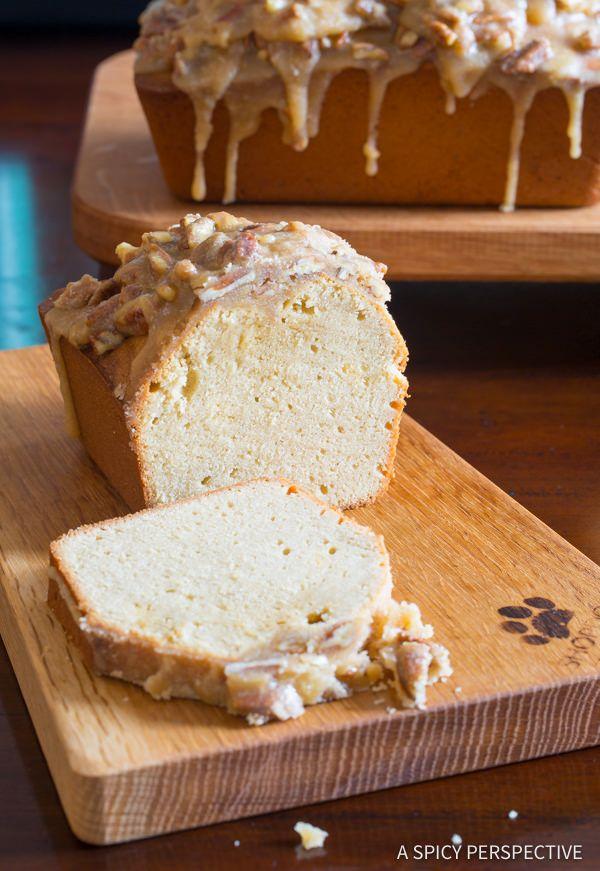 Dazzling Pecan Praline Pound Cake Recipe | ASpicyPerspective.com