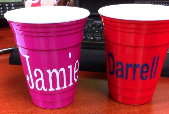 Personalized Solo Cups, Monogrammed, Solo Cups, Double-Walled Solo Cups, 16 oz Personalized Solo Cups, insulated solo cups by DownSouthMonogram on Etsy https://www.etsy.com/listing/229351025/personalized-solo-cups-monogrammed-solo