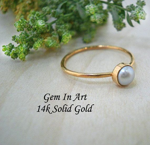 Solid Gold stackable ringGold Dainty Ring14K Solid Gold