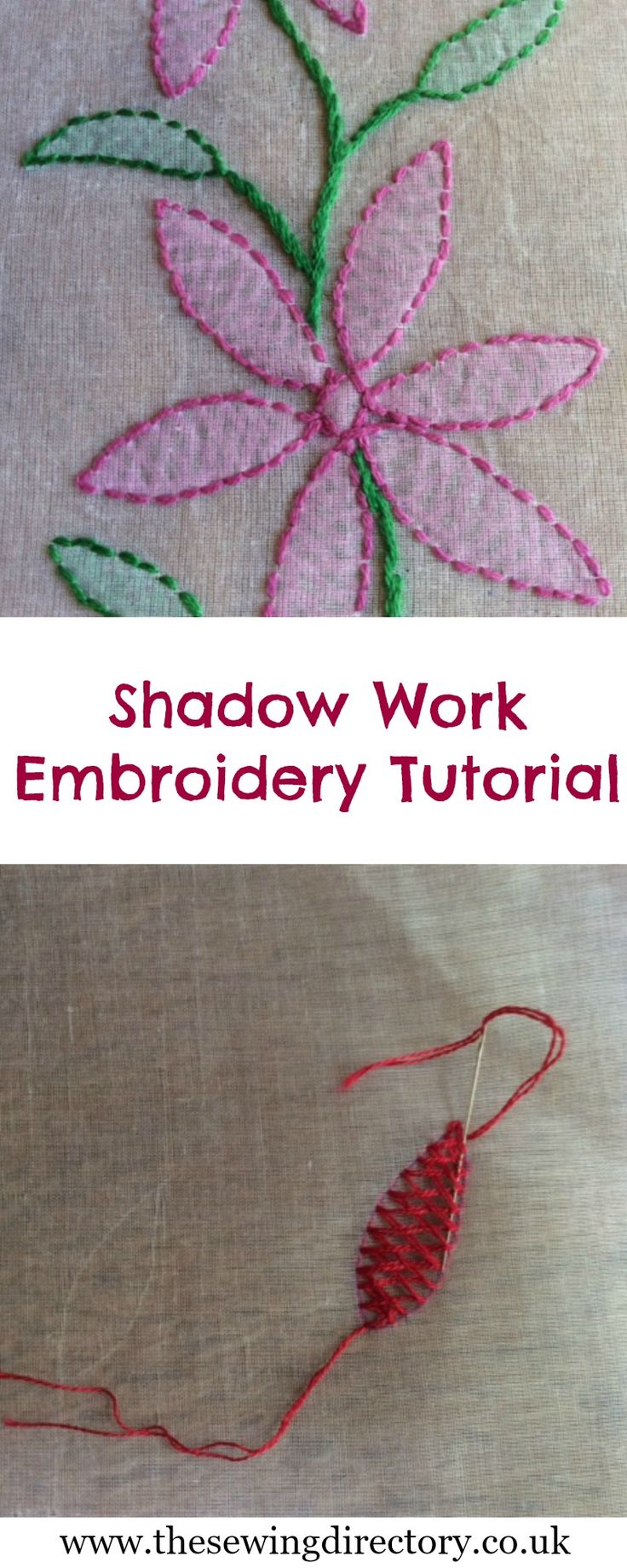 Shadow Work Embroidery Tutorial - part of our 10-part series on hand embroidery