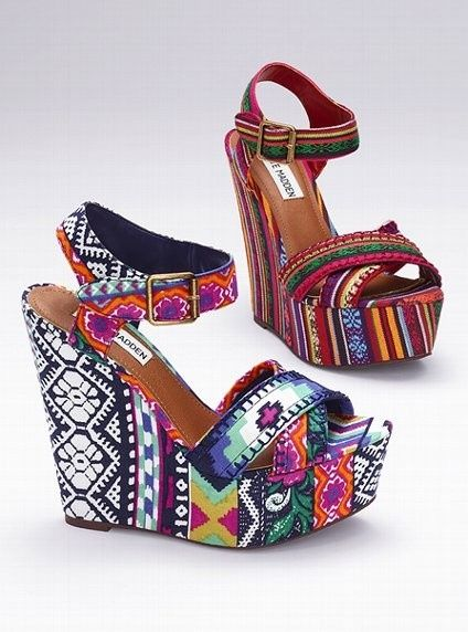 Steve Madden #shoes #tribal: Shoes, Tribal Wedge, Fashion, Style, Steve Madden, Wedges, Stevemadden