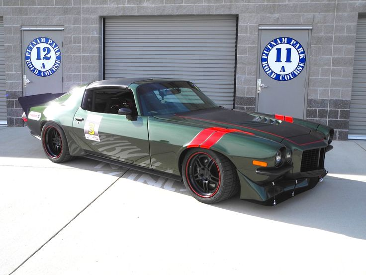 Jim Stehlin's amazing '73 Camaro is powered by a 465rwhp 416ci Wegner LS3 and features a front splitter from D&Z Customs LLC., Detroit Speed suspension, RideTech coilovers, Wilwood Disc Brakes, and BFG Rival tires on 18-inch Forgeline DS3 wheels finished with Satin Black centers and Gloss Black outers with a custom pinstripe. See more at: http://www.forgeline.com/customer_gallery_view.php?cvk=1388 #Forgeline #DS3 #notjustanotherprettywheel #madeinUSA #Chevy #Camaro