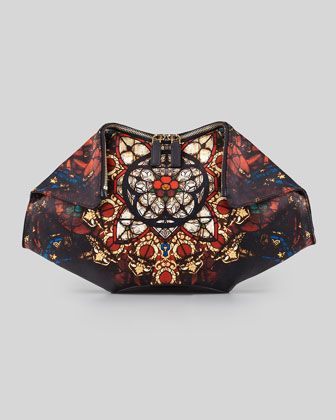 I need this now!!!! De-Manta Stained Glass Printed Clutch Bag by Alexander McQueen at Neiman Marcus.