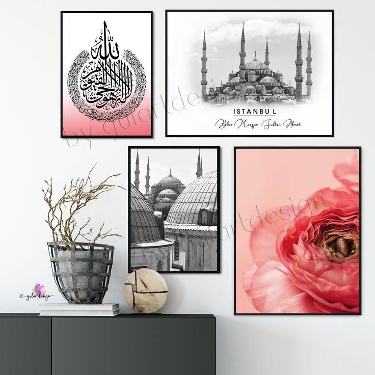 Islam, Dekoration, islamic wallart, islamicquotes, Istanbul, Blue Mosque, Blaue Moschee, Türkei, Orient, wandbilder, Moschee, Ayatalkursi
