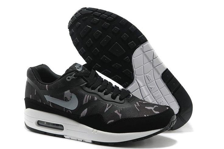 WMNS Air Max 1/87 CMFT PRM Tape Redelijke Prijs Nike Heren Sneakers Schoenen Zwart Grijs