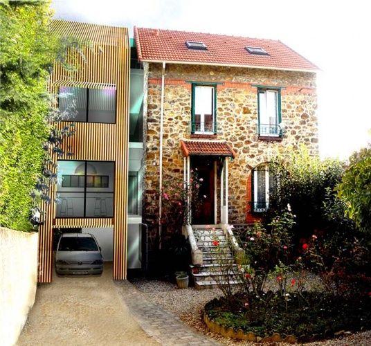 Le projet d 39 extension bois termin archi pinterest for Agrandissement maison en bois