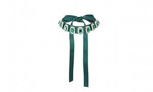 Превратить ваш наряд для вечеринки – изумрудно-зеленая лента колье колье с зеленым драгоценности с asos
