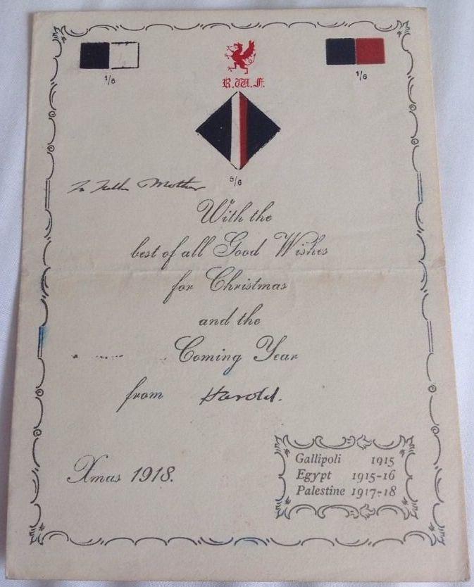 1st/6th Territorial Battalion RWF Christmas 1918.