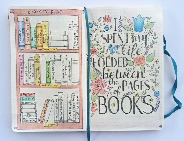 Adorable bookcase and quote page #bulletjournal