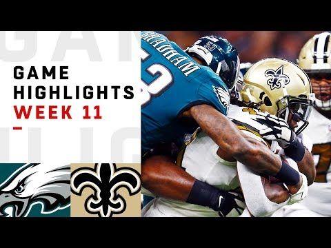 Eagles vs. Saints Week 11 Highlights | NFL 2018   The Philadelphia Eagles take o…
