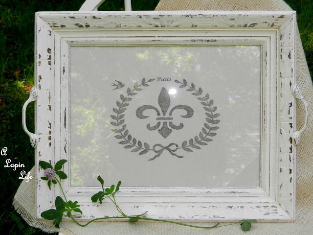 A Lapin Life:  How to make a tray from a thrift store frame and homemade chalk…