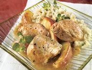 Médaillons de porc aux pommes et au cari   Recettes IGA   Sauce, Curry, Recette rapide