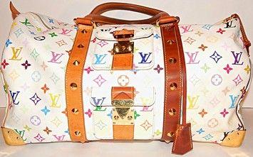 Louis Vuitton Keepall 45 Lv White Monogram Multicolor Travel Bag $1,307