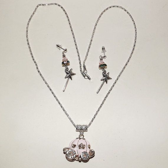 Necklace & Earring Set  Cinderella  FREE UK Post  by KasumiCrafts