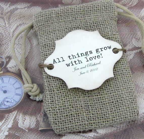 20 Burlap Wedding Favor Bags  All things grow by CottageCandies, $36.00