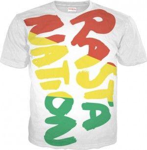 RASTA NATION Koszulka T-Shirt Full Print 3D